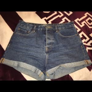 Forever 21 Denim High Waist Shorts